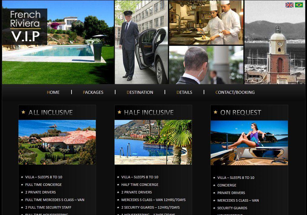 Création Site de présentation : French Riviera V.I.P