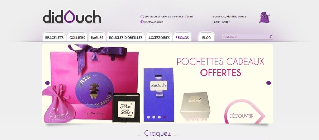 capture d'écran du site Didouch, créé par l'agence web riacrétation