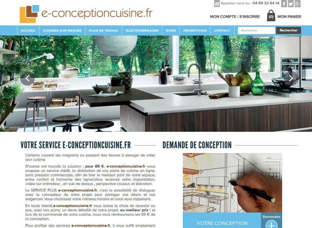 E conception cuisine a choisi l agence web ria cr ation for Conception cuisine