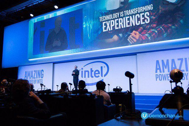 Conférence de presse Intel Corporation lors du CES 2017 à Las Vegas.