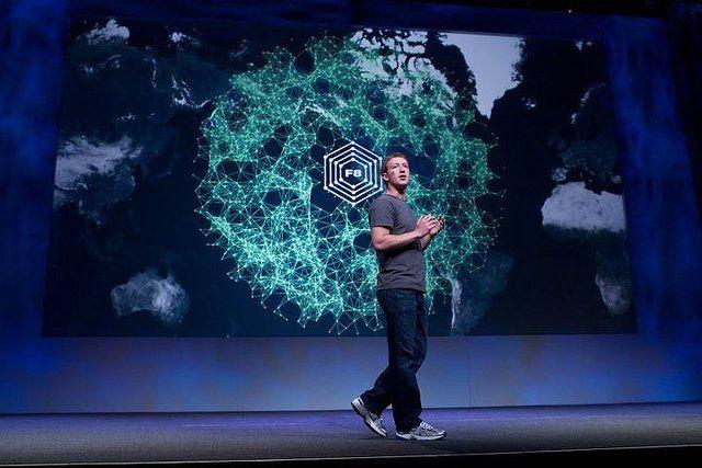 Mark Zuckerberg, le créateur de Facebook lors d'une conférence