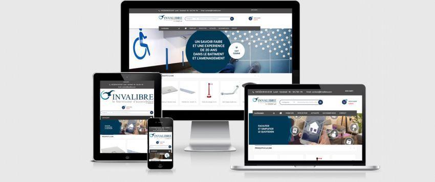 Photographie de présentation du site d'accessibilité  Invalibre créé par l'agence web Ria Création.