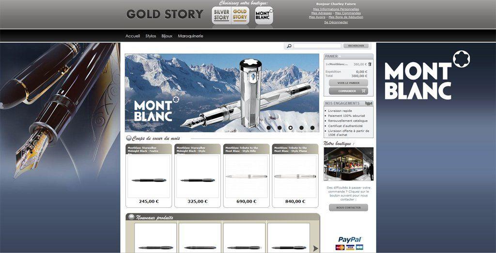 gold-story : boutique montblanc en ligne