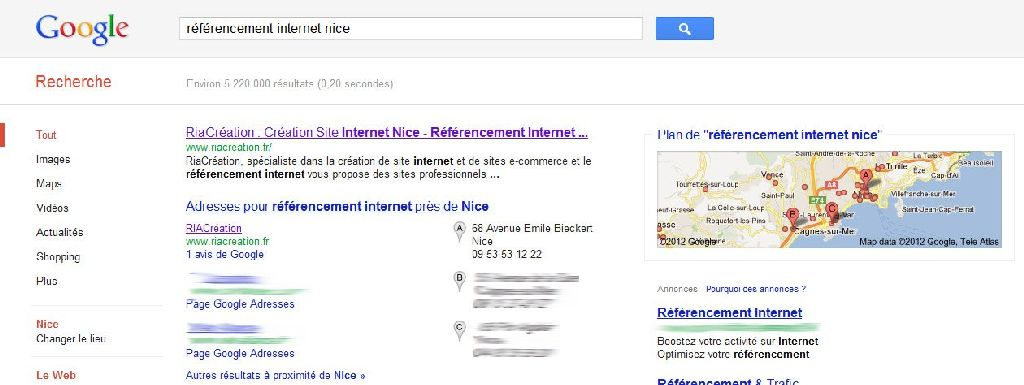 Referencement internet nice sur Google