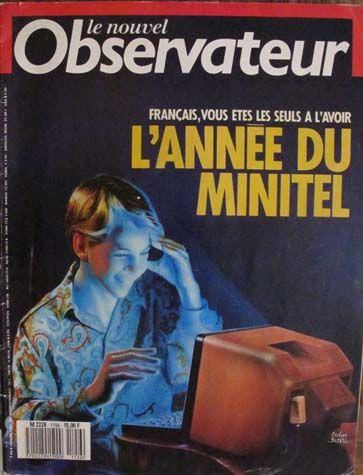 Couverture du nouvel observateur : les français seuls avec leur minitel