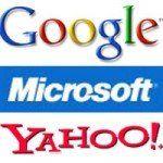 logos de google microsoft et yahoo