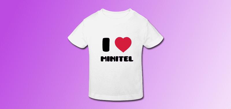 tee shirt I love Minitel