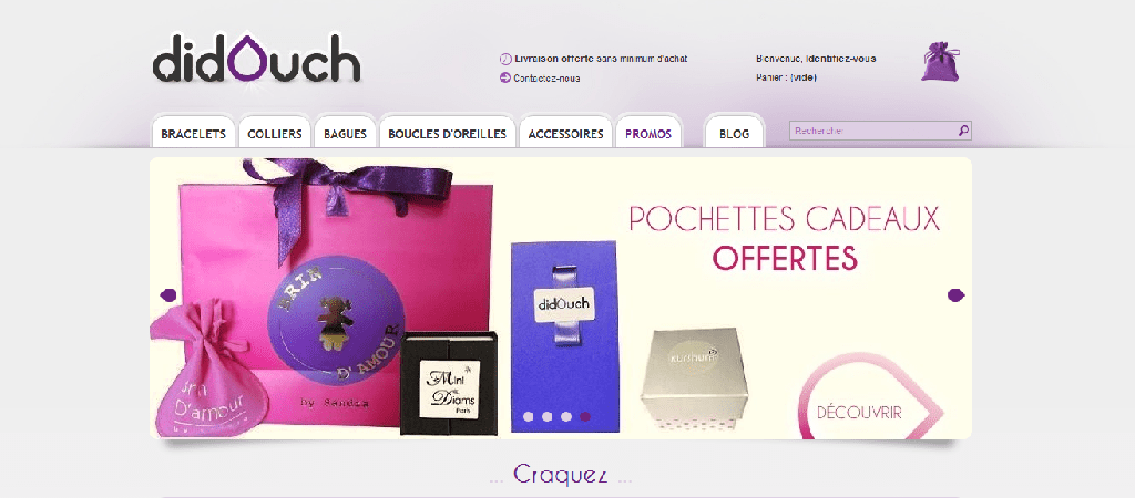capture d'écran du site Didouch, créé par l'agence web riacréation