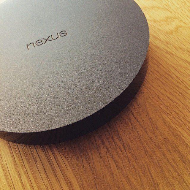 Photo du boitier de Google, le Nexus Player