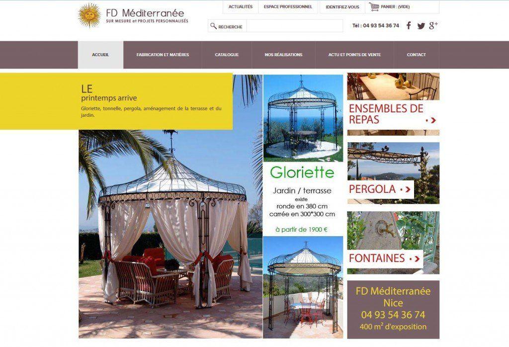 Page d'accueil de FD Méditerranée
