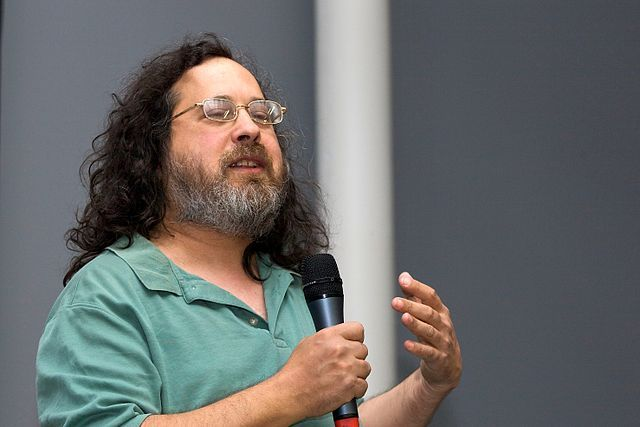 Richard Stallman lors d'une conférence