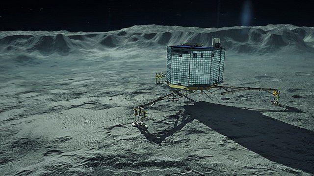 Le robot Philae sur la comète Tchouri.