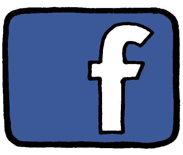 Dessin du logo de Facebook.