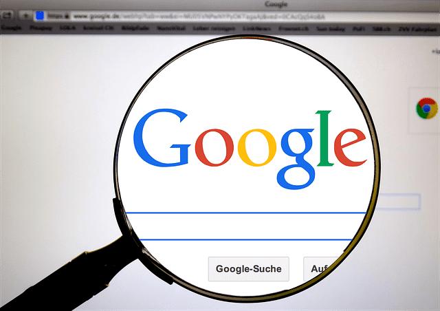 Page d'accueil de Google.