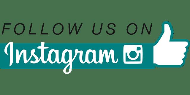 """Image sur laquelle il est inscrit : """"Follow us on Instagram""""."""