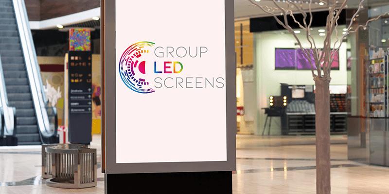 Panneau lumineux à LED pour un magasin.