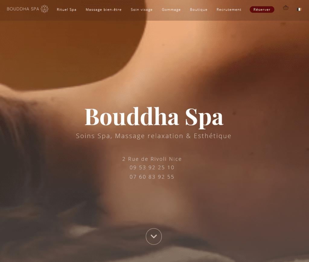 Page d'accueil du site Bouddha spa.