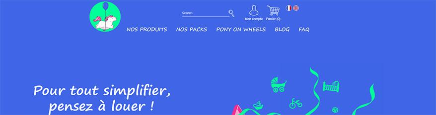 Pony on wheels