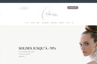 Boutique en ligne de robes de mariée et costumes pour homme - Organza