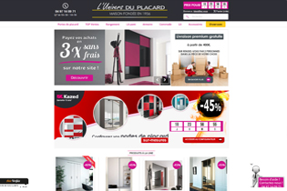 Configurez en ligne, sur l'Univers du placard, l'armoire de vos rêves avec tous les détails esthétiques et ergonomiques. Livraison gratuite dès 400 euros d'achat.